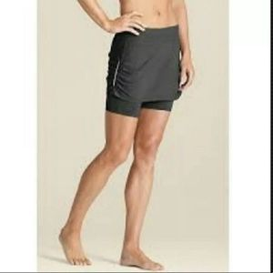 Athleta Grey Contender 2 in 1 Skort Skirt Small